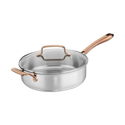 Cuisinart In the Mix 4qt Stainless Steel Come Gather Saute Pan with Helper Handle and Cover