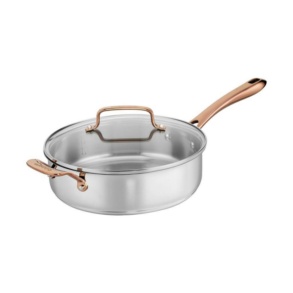 Image of Cuisinart In the Mix 4qt Stainless Steel Come Gather Saute Pan with Helper Handle and Cover