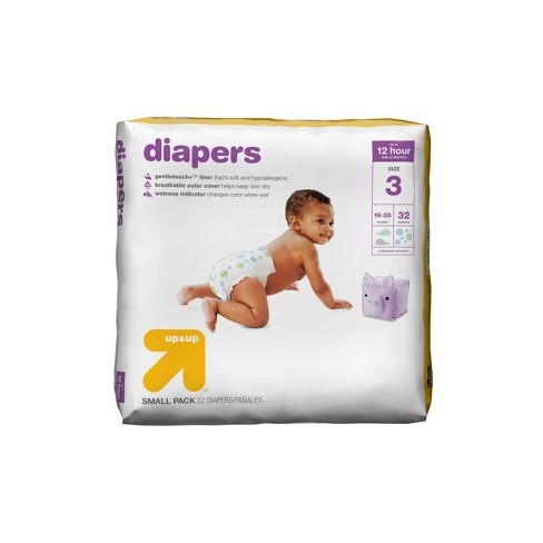 76f07fe32003f Diapers Small Pack - Size 3 - 32ct - Up&Up™ : Target