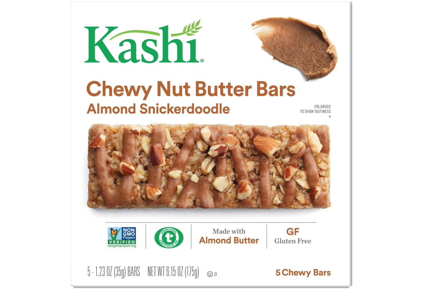 Kashi Almond Snickerdoodle Chewy Nut Butter Bars - 5ct - image 1 of 6