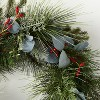 "26"" Red Berries Pine Eucalyptus Wreath - Threshold™ designed with Studio McGee - image 3 of 4"