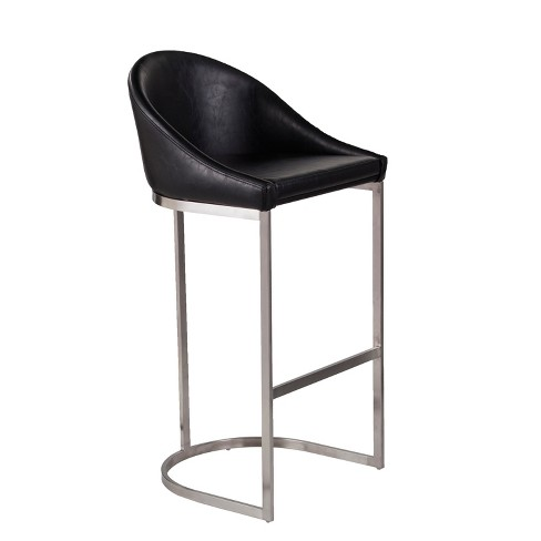 Awe Inspiring Blake Faux Leather Barstool Black Aiden Lane Short Links Chair Design For Home Short Linksinfo