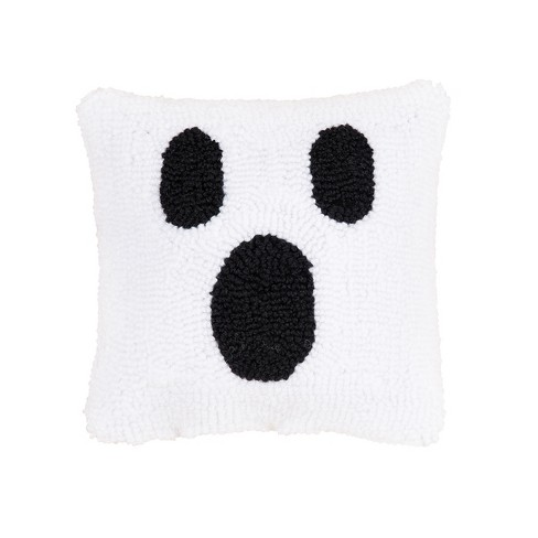 """C&F Home 8"""" x 8"""" Ghost Face Petite Halloween Hooked Throw Pillow - image 1 of 4"""