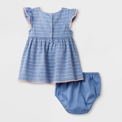 29b2fa0260dfd Baby Girls' Cap Sleeve A Line Dress - Cat & Jack™ Blue : Target
