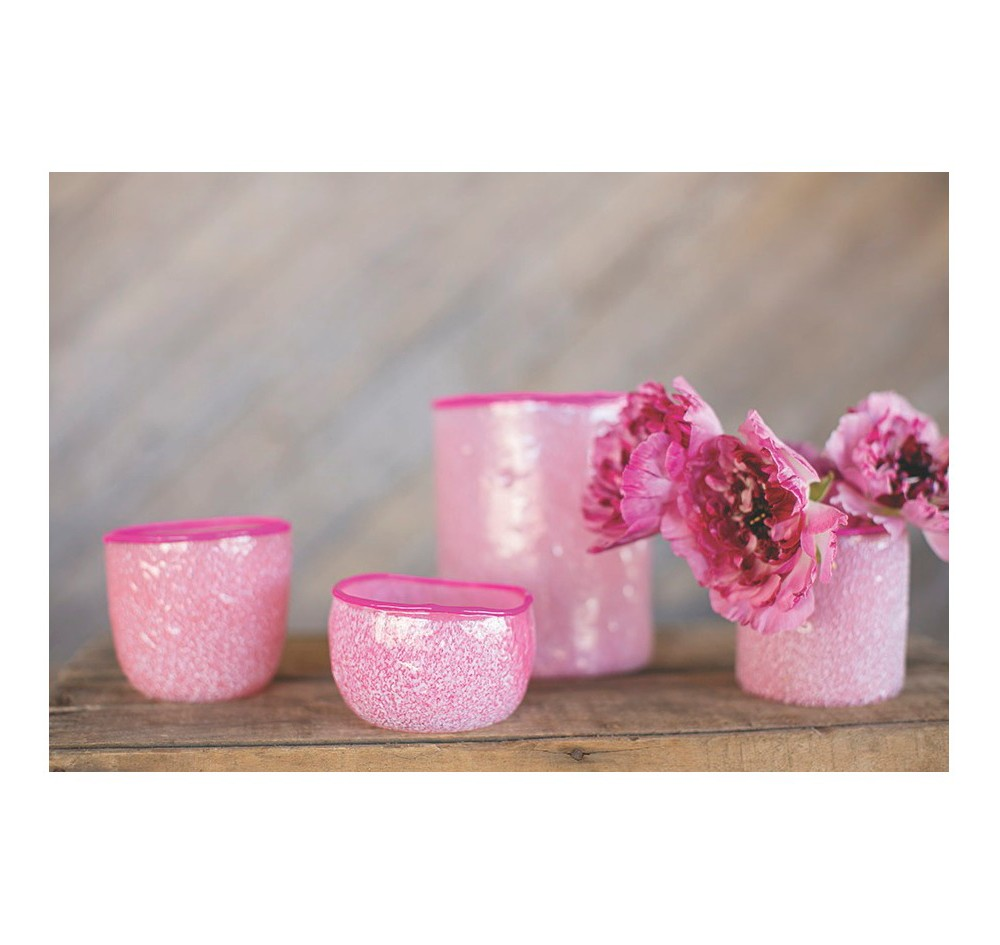 Image of 4pc Pink Accent Candle Holder Set - Accent Decor