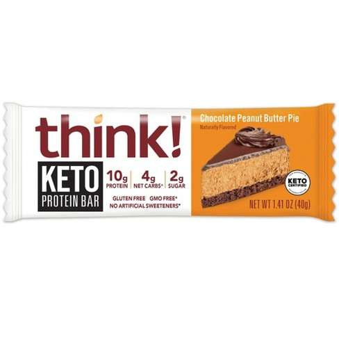 think! Keto Protein Chocolate Peanut Butter Single Bar - 1.41oz - image 1 of 3