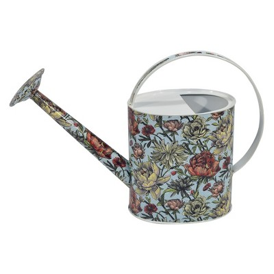 13.2  H Metal Floral Watering Can - Floral - Threshold™