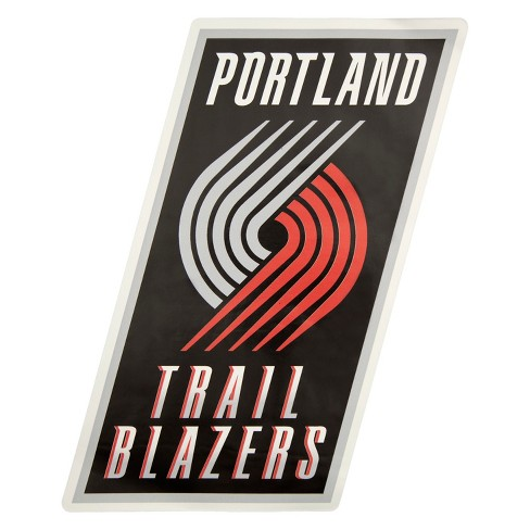 low priced be569 30e01 NBA Portland Trail Blazers Large Outdoor Logo Decal   Target