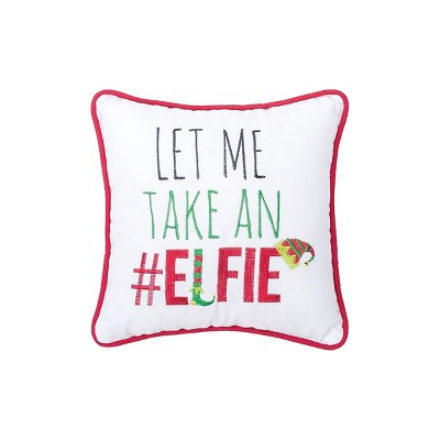 """C&F Home 10"""" x 10"""" Elfie Embroidered Pillow"""