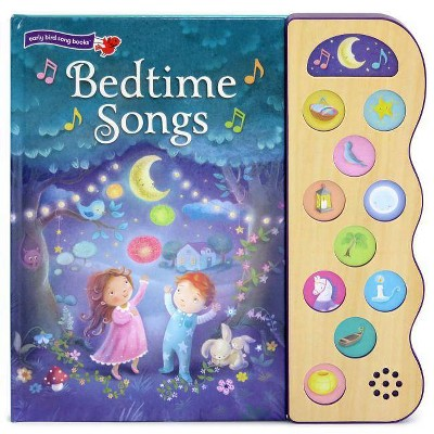 Bedtime Songs 11 Button Song Book - by Scarlett Wing (Hardcover)