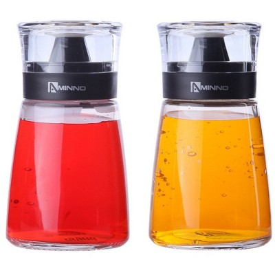 Juvale 2-Pack 5.5oz 170ml Olive Oil and Vinegar Cruets Glass Dispensers Bottles with Sealing Caps