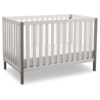Delta Children Milo 3-in-1 Convertible Crib - Bianca White/Gray