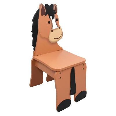 Fantasy Fields Happy Farm Chair Wood/Horse   Teamson