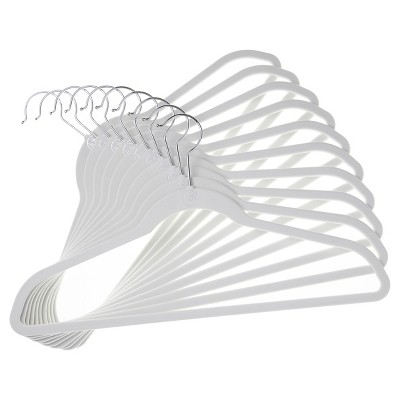 Huggable Hangers® 10-pk Suit Hangers - White