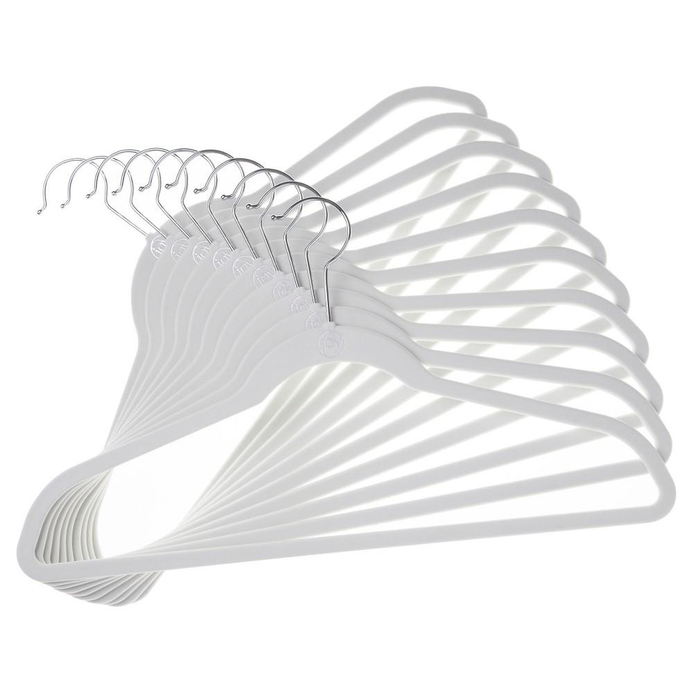Image of Huggable Hangers 10-pk Suit Hangers - White