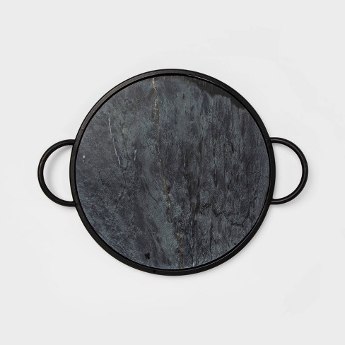 """19"""" x 4"""" Round Marble Tray Black - Project 62™ - image 1 of 2"""