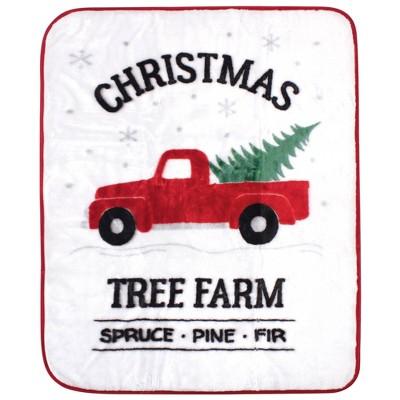 Hudson Baby Unisex Baby High Pile Plush Blanket - Christmas Tree One Size