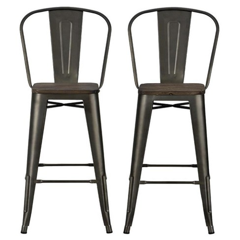 Strange 30 Set Of 2 Lio Metal Counter Stool With Wood Seat Antique Copper Room Joy Gmtry Best Dining Table And Chair Ideas Images Gmtryco