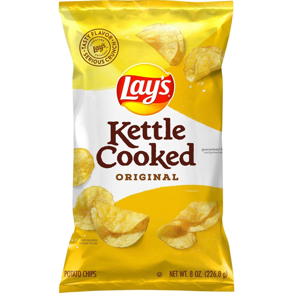 Lay S Kettle Cooked Original Potato Chips 8 0oz