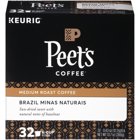Peet's Brazil Minas Naturais Medium Roast Coffee - Keurig K-Cup Pods - 32ct - image 1 of 3