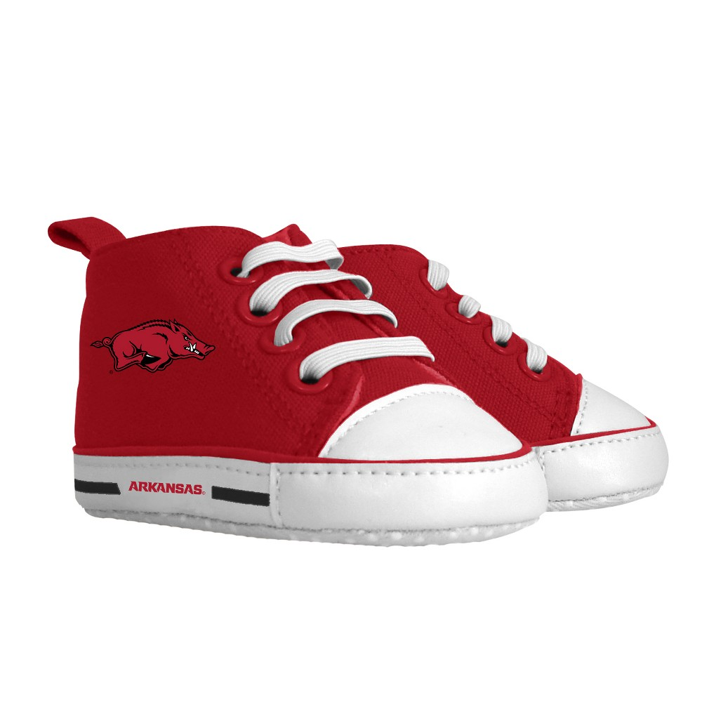 NCAA Arkansas Razorbacks Pre-Walker Hightop Sneakers 0-6M