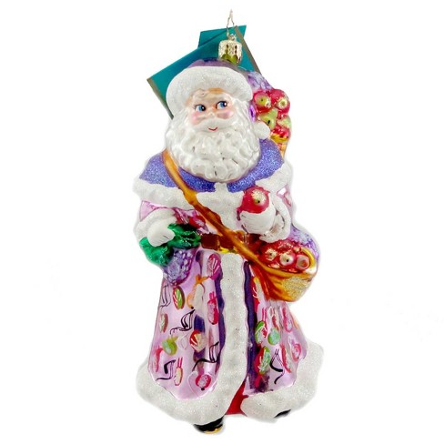 Christopher Radko Glad Stridings Ornament Santa Fruit Basket - image 1 of 2