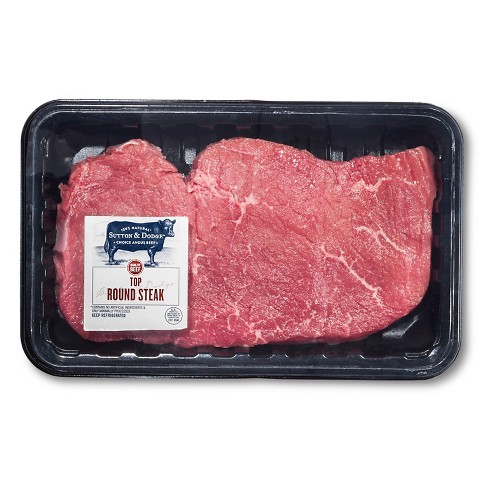 USDA Choice Angus Beef Top Round Steak 0.67-1.86lbs - price per lb - Sutton & Dodge™ - image 1 of 1