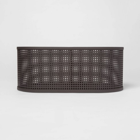 Oval Metal Bin Divider With Powder Coated Finish And Mesh Bottom Dark Gray - Project 62™ - image 1 of 3