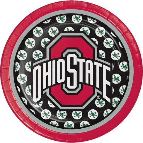 24ct Ohio State Buckeyes Dessert Plates Red Target