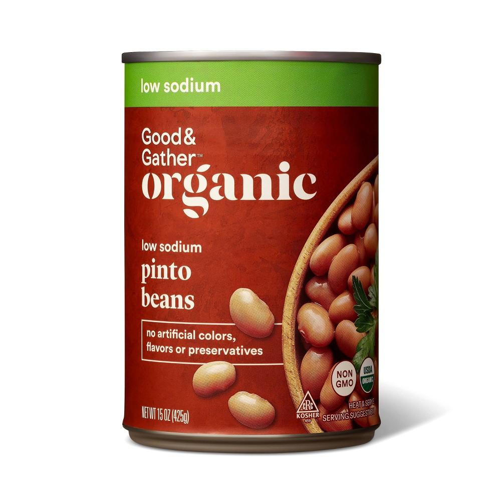Organic Low Sodium Pinto Beans 15oz Good 38 Gather 8482