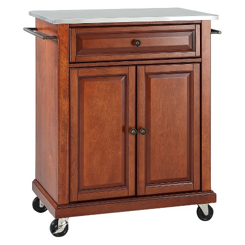 Stainless Steel Top Portable Kitchen Cart/Island - Crosley