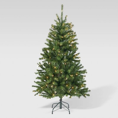 4.5ft Noble Fir Hinged Artificial Christmas Tree Clear Lights - Christopher Knight Home