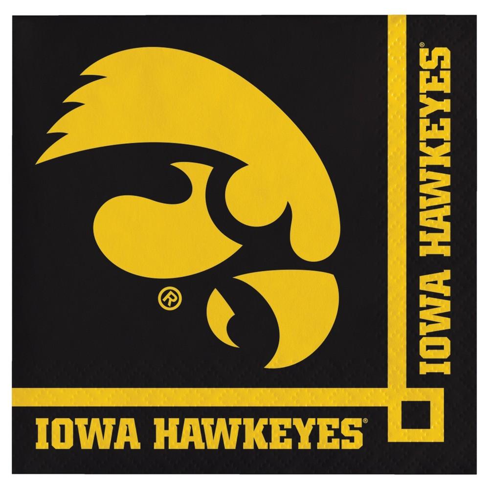 Image of 20ct University Of Iowa Hawkeyes Cocktail Beverage Napkins