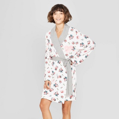 Love and Cherish Women's Floral Print Bride Robe - White S