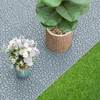 Gardenised Interlocking Cobbled Stone Look Garden Pathway Tiles, Decorative Floor Grass Pavers Anti- Slip Mat, 5 pack   - image 4 of 4