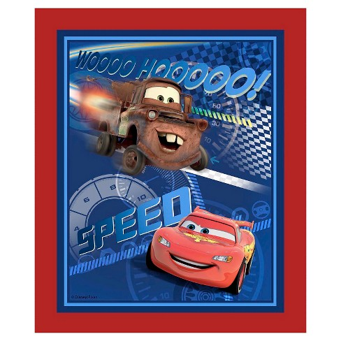 Disney Cars Speed Racing Panel Fabric - image 1 of 1