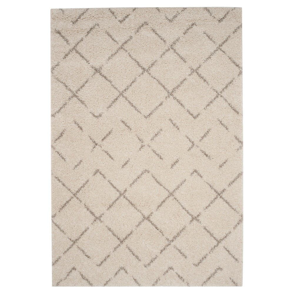Ivory/Beige Abstract Loomed Area Rug - (4'x6') - Safavieh