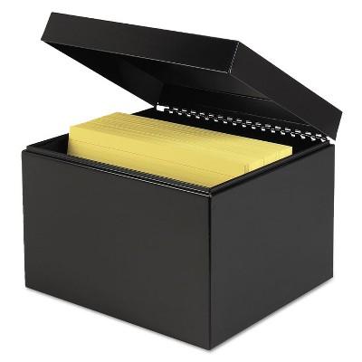 SteelMaster Index Card File w/Follow Block Holds 900 6 x 9 Cards Black 263869BLA