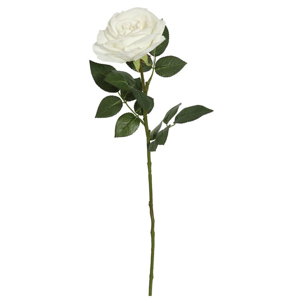 Image of Artificial (Pk/3) Rose Stem (27) White - Vickerman