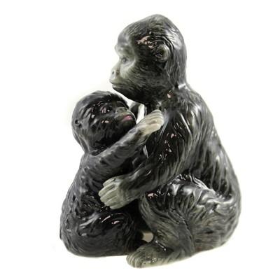 "Tabletop 4.0"" Gorilla & Baby Salt Pepper S/2 Magnetic Safari Zoo Menagerie Pacific Trading  -  Salt And Pepper Shaker Sets"