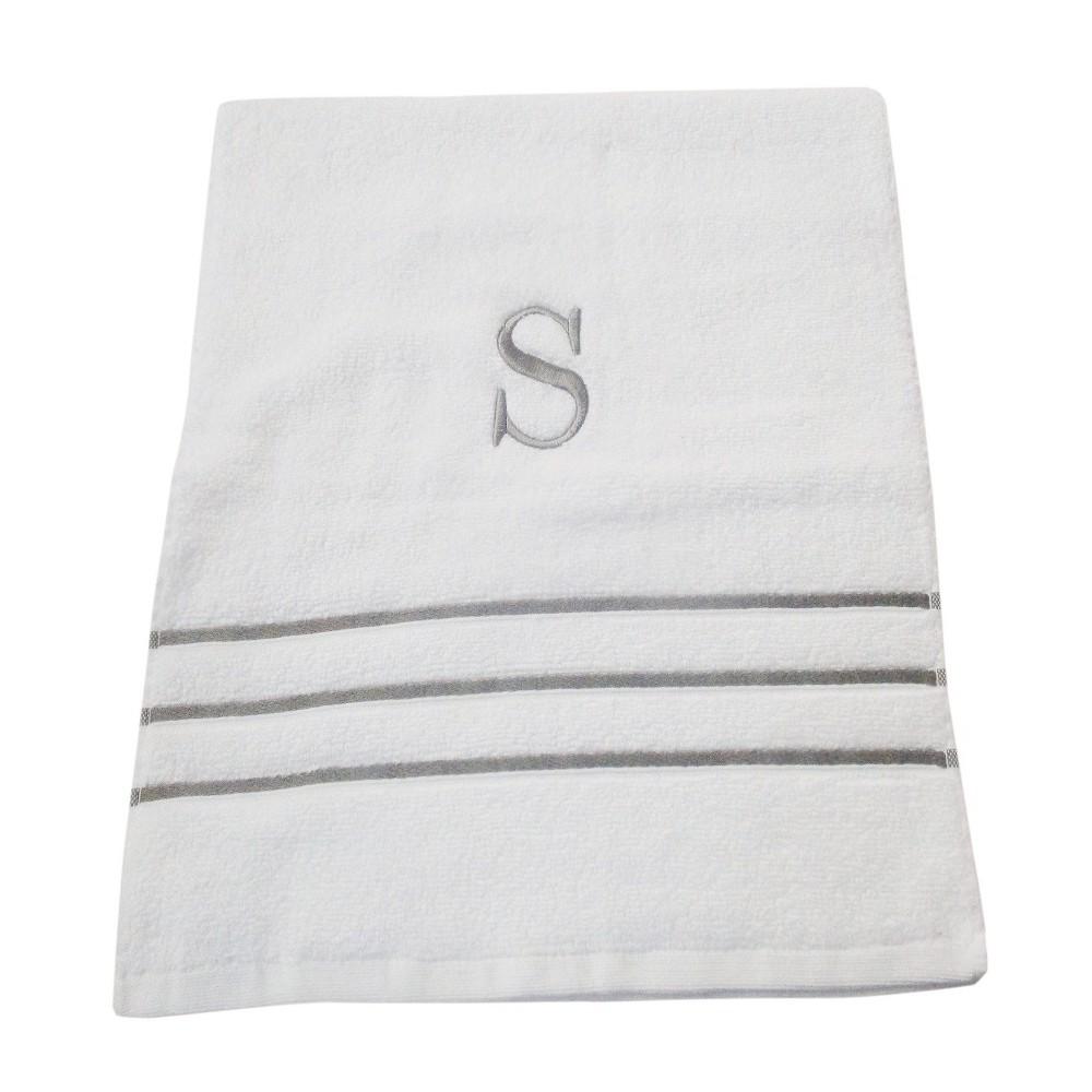 Monogram Hand Towel S - White/Skyline Gray - Fieldcrest