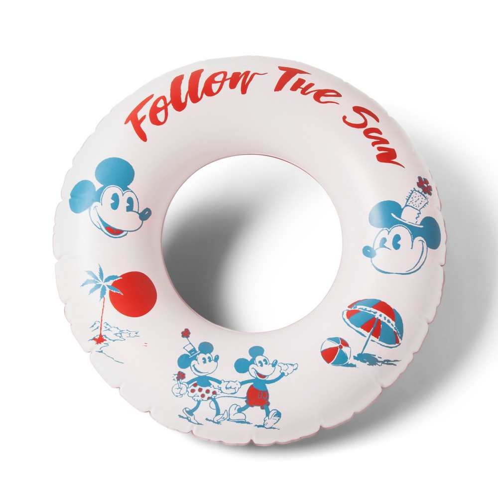 Image of Junk Food Mickey Mouse Follow the Sun Inflatable Ring, Multi-Colored