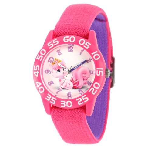 Girls' Disney Palace Pet Dreamy Pink Plastic Time Teacher Watch - Pink - image 1 of 2