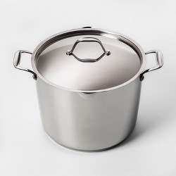12qt Stainless Steel Stock Pot with Lid - Made By Design™
