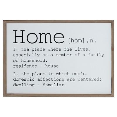 Home Wall Sign (16 x24 )- VIP Home & Garden