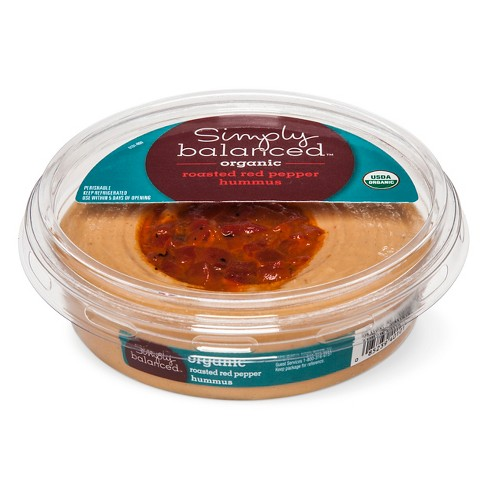 Organic Roasted Red Pepper Hummus Dips - 10oz - Simply Balanced™ - image 1 of 1