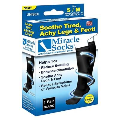 As Seen on TV® Miracle Socks Anti-Fatigue Compression Socks - Black