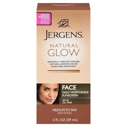 Jergens Natural Glow Face Moisturizer 2 oz (Medium/Tan) - image 1 of 3