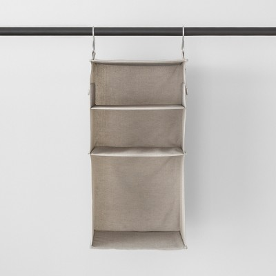 3 Shelf Hanging Fabric Storage Organizer Light Gray - Made By Design™