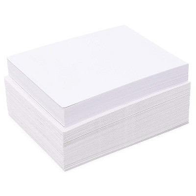"Pipilo Press 100-Pack Embossed Border Blank Cardstock with Envelopes for Invitations, 5"" x 7"" White 200 GSM Quality Cards"